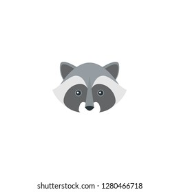 Racoon face icon