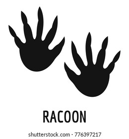 Racoon step icon. Simple illustration of racoon step vector icon for web