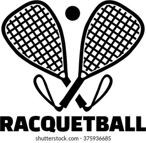 Racquetball bats with ball