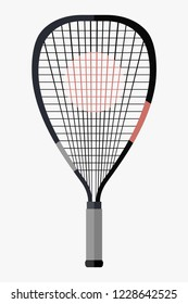 Racquetball racket vector illustration