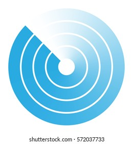 radar abstract icon symbol vector illustration