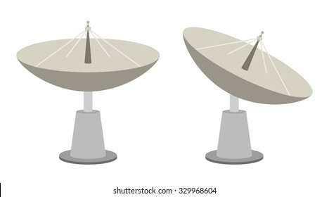 Radar dish antenna for broadcast