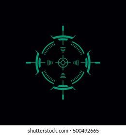 Radar Flat Illustration Telescopic Sight