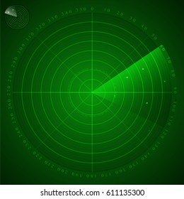 Radar green colour vector.