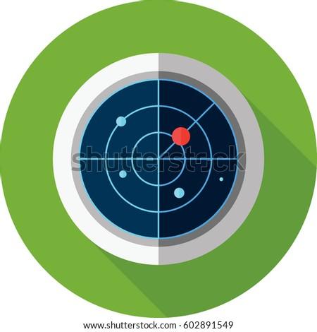 Radar Icon Stock Vektorgrafik Lizenzfrei 602891549 Shutterstock