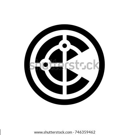 Radar Icon Stock Vektorgrafik Lizenzfrei 746359462 Shutterstock