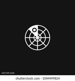 Radar icon vector.