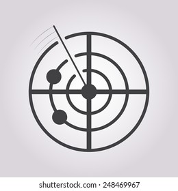 Radar Icon Vector.
