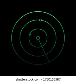 radar nolan icon. Simple thin line, outline vector of Airport icons for ui and ux, website or mobile application