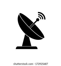 Radar satellite dish - Vector icon