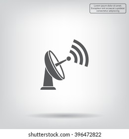Radar Vector icon satellite dish tv technology.