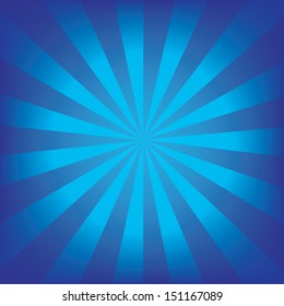 Radial blue background.