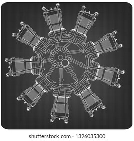 radial engine images, stock photos & vectors shutterstock radial engines running radial engine on a gray background drawing