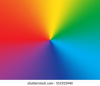 Radial gradient rainbow background. Vector illustration.