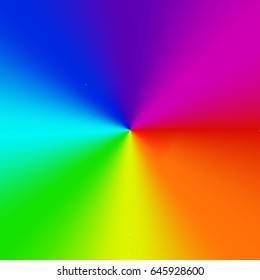 Radial gradient rainbow background. Vector illustration.
