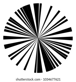 Radial lines abstract geometric graphic. Radial, radiating stripes, lines