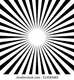Radial - radiating lines starburst sunburst circular pattern