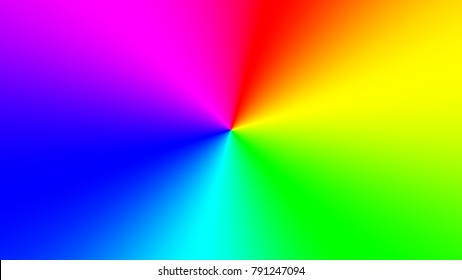 Radial rainbow gradient in a widescreen rectangle. Abstract colored wallpaper for a bright design. Abstract vector illustration.Holidays multicolored background.