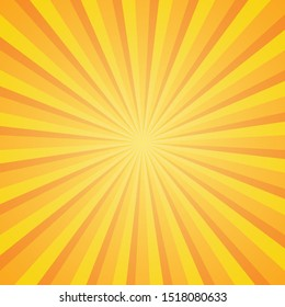 Radial Rays Background. Colorful Sunburst Background. Vector Illustration
