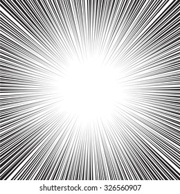 Radial speed line zoom vector for comic book and illustration background.