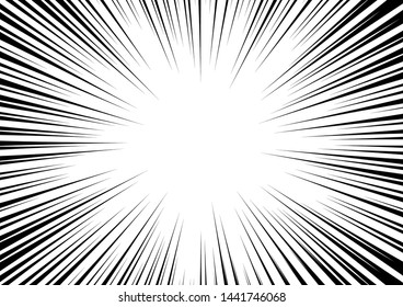 Radial Stripes Abstract Background.Text frame in manga and anime comics.vector Illustration.
