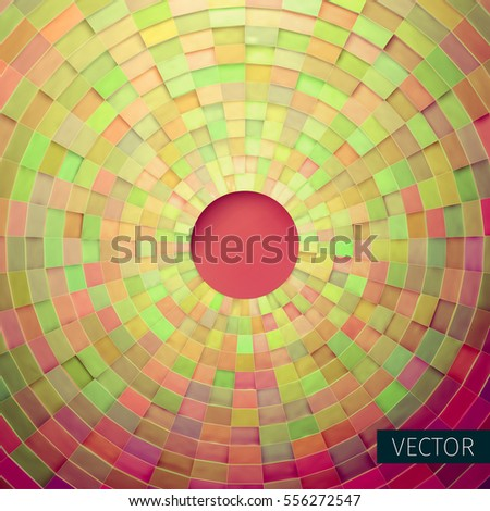Radial Vector Ornament Angular Grid 3 D Stock Vector (Royalty Free