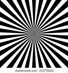 Radiating, converging lines, rays background. Known as star burst, sunburst background. Vector illustration.