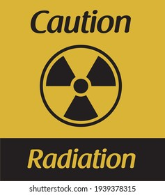 Radiation caution. Vector illustration symbol. Transparent background.