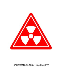 Radiation Danger sign. Caution chemical hazards. Warning sign of radioactive contamination