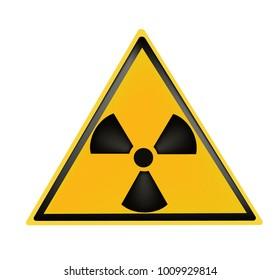 radiation danger symbol on a white background