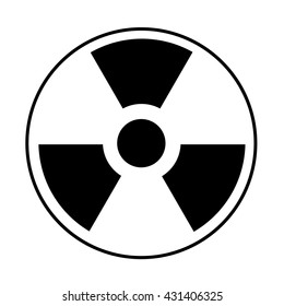 Radiation icon. May present radiation threat or danger, nuclear energy, nuclear power. Vector Illustration