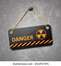 Radiation / radioactive / nuclear sign