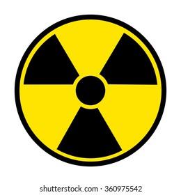 Radiation Round Sign isolated on white background. Vector illustration