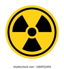 Radiation sign. Danger warning circle yellow sign
