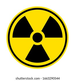 Radiation sign. Warning symbol. Radioactive vector flat icon