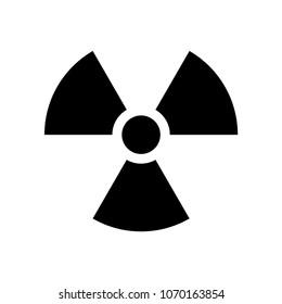 Radiation symbol vecor icon isolated on white background. Radioactivity icon in black color