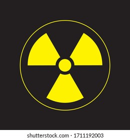 Radiation Symbol. Vector, Hazard symbol