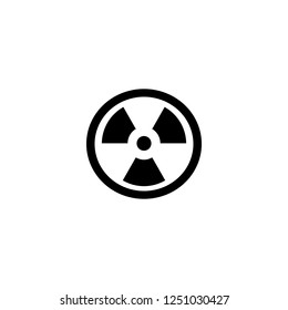 radiation vector icon. radiation sign on white background. radiation icon for web and app