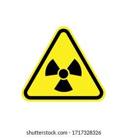 Radiation warning sign. Vector illustration