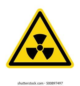 Radiation warning sign, vector illustration