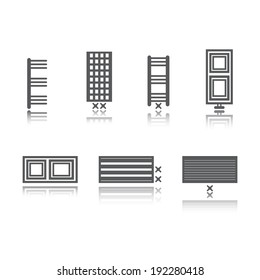radiator icon, vector
