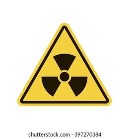 Radio Active Sign. Hazard symbol for your web site design, logo, app, UI. Vector illustration, EPS10.