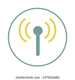 radio antenna icon. flat illustration of radio antenna vector icon. radio antenna sign symbol