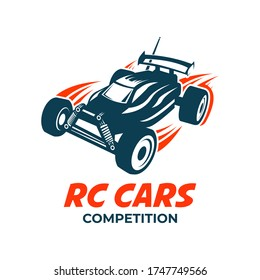 Radio controlled machine, RC, radio controlled toys design elements for emblems, icon.