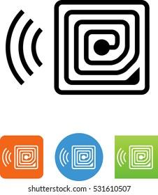 Radio Frequency Identification RFID Icon