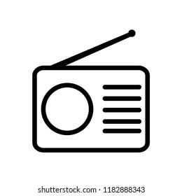 Radio icon flat style