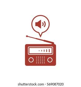 Radio icon, isolated. Flat  design.