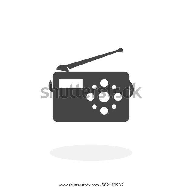 Radio icon isolated on white background. Radio vector logo. Flat design style. Modern vector pictogram for web graphics - stock vector