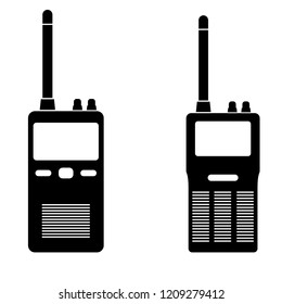 Radio icon, logo on white background