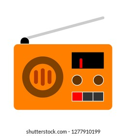 radio icon - retro radio isolate, radio illustration- Vector retro radio